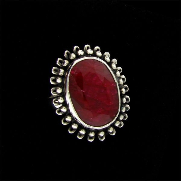 APP: 9.8k 11.51CT Ruby & Sterling Silver Ring