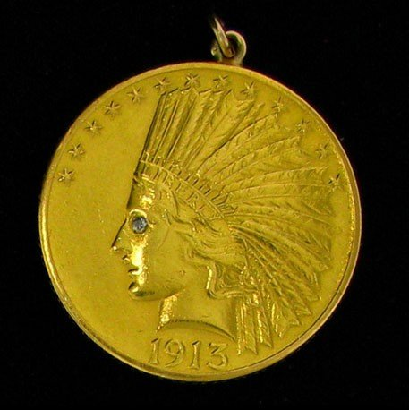 1913 $10 U.S. Gold Indian Head Coin - Investment
