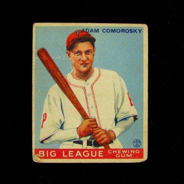 Adam Comorosky #77 BP $30-165 Goudey Baseball Card