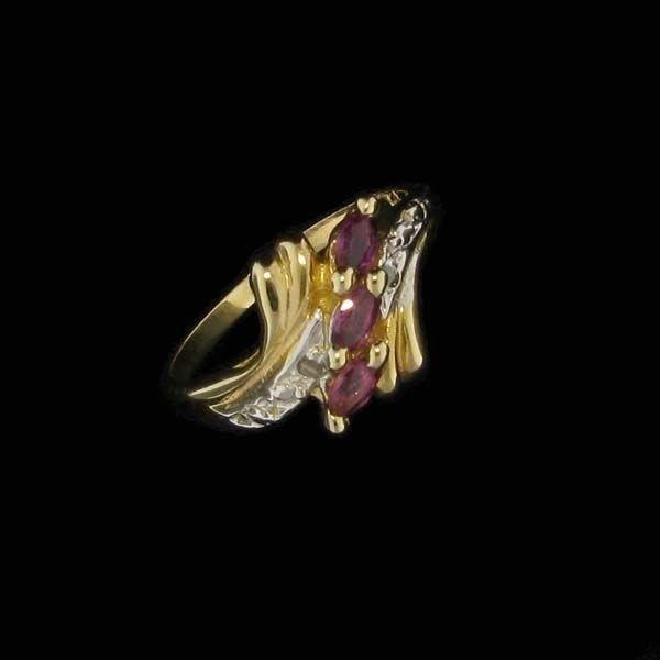 14 kt. Gold, Ruby & Diamond Ring