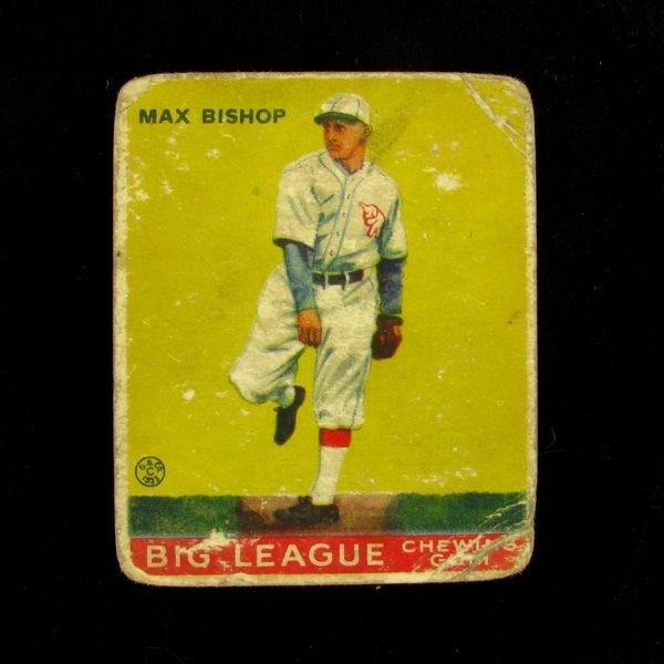 Max Bishop #61 BP $30-165 Goudey Baseball Card
