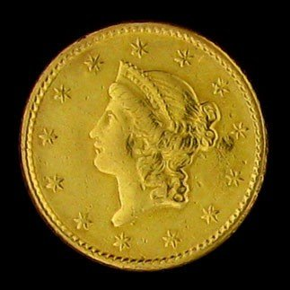 1852 U.S. Gold Liberty Head $1 Coin - Investment