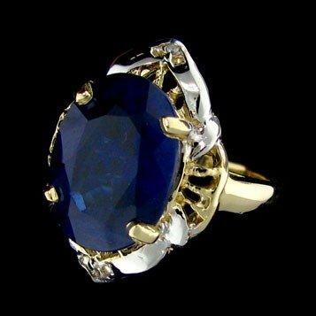 APP: 20.3k 8.86CT 14 kt. Gold, Sapphire & Diamond Ring