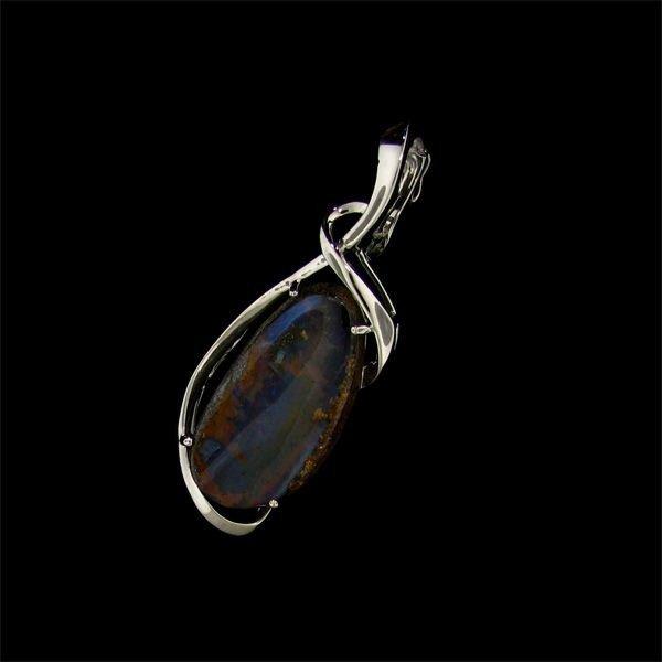 APP: 10.6k 24.95CT Boulder Opal & Sterling Silver Penda