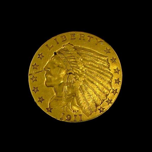 1911 U.S. Gold Indian Head $2.50 Coin - Investment