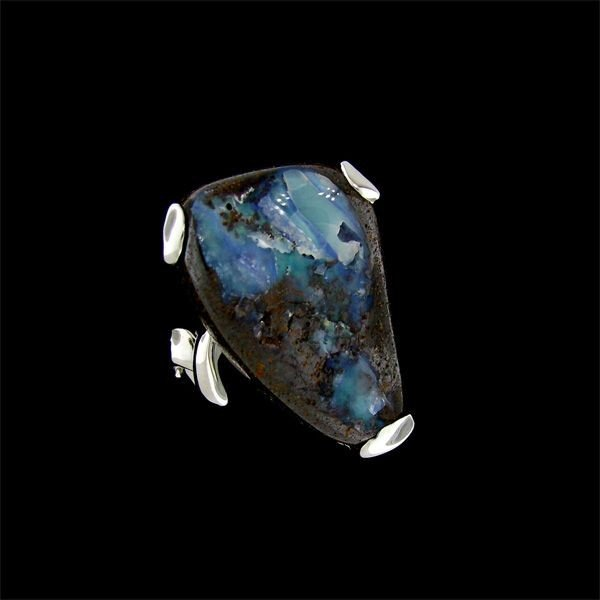 APP: 8.8k 31.44CT Boulder Opal & Sterling Silver Ring