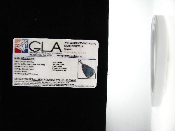 APP: 8k 31CT Boulder Opal & Sterling Silver Pendant