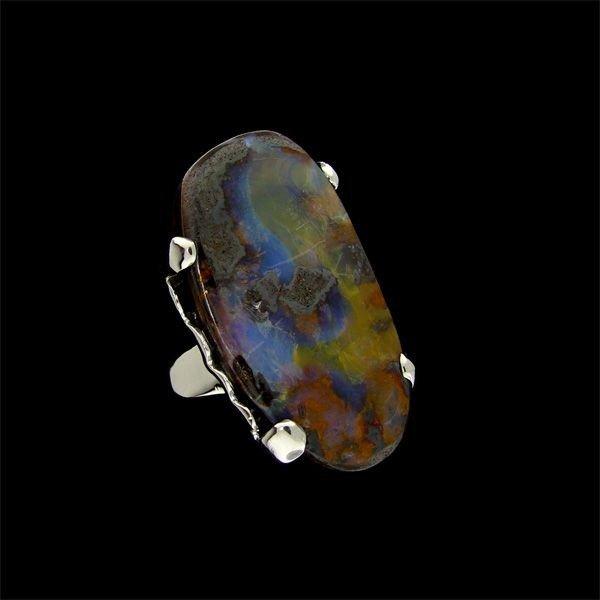 APP: 7.2k 32.59CT Boulder Opal & Sterling Silver Ring