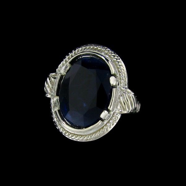 APP: 18.5k 17.91CT Sapphire & Sterling Silver Ring