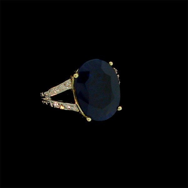 APP: 20k 8.18CT 14 kt. Gold, Sapphire and Diamond Ring