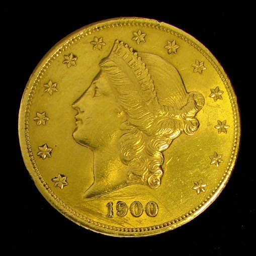 1900 $20 U.S. Liberty Head Gold Coin Investment