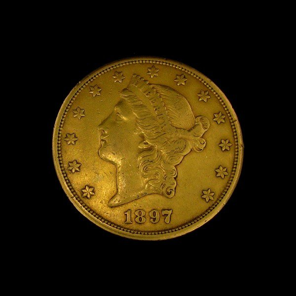 1897-S U.S. Gold Liberty Head $20 Coin - Investment