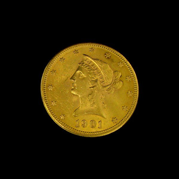 1901 U.S. Gold Liberty Coronet $10 Coin - Investment