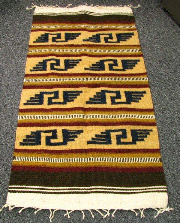 Handmade Zapotec Rug 56 x 28 approx