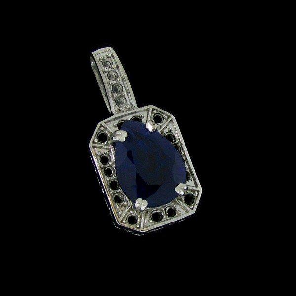 APP: 19.6k 12.76CT Sapphire & Sterling Silver Pendant