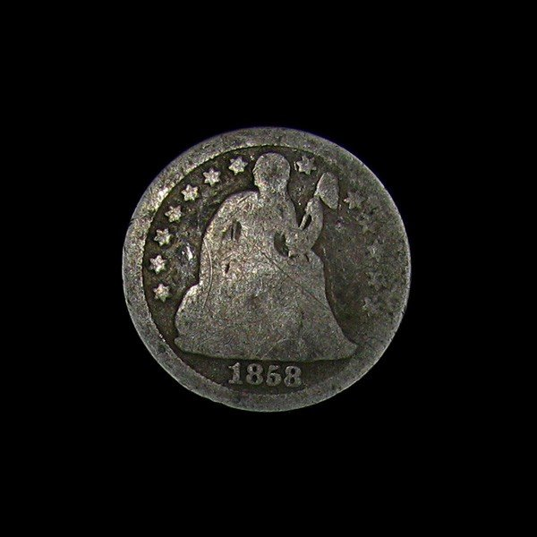 1858 Seated Liberty Dime Coin - Investment