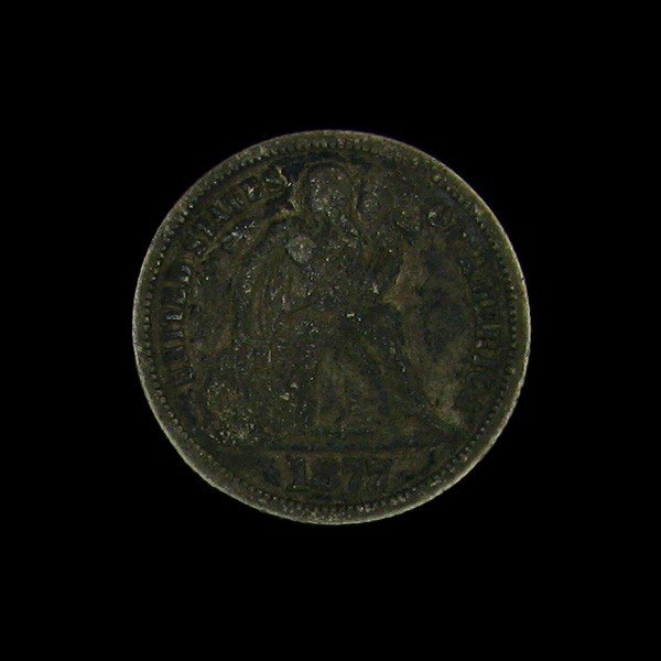 1877 Seated Liberty Dime Coin - Investment