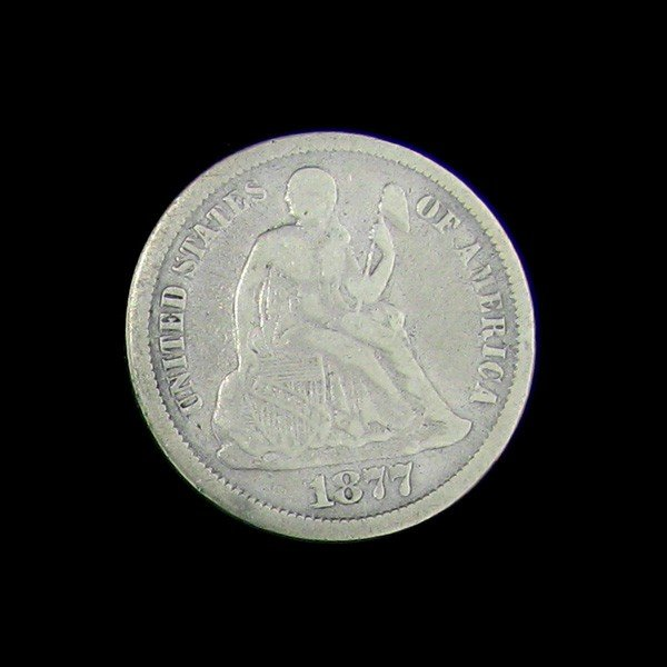 1877-CC Seated Liberty Dime Coin - Investment