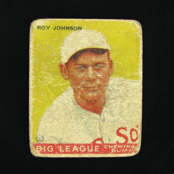 Roy Johnson #8 BP $45-$250 Goudey Baseball Card