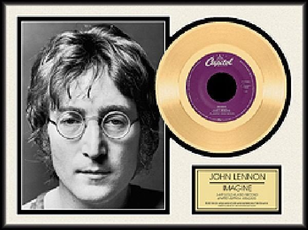 "JOHN LENNON ""Imagine"" Gold 45"