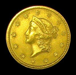 1849 $1 U.S. Liberty Head Gold Coin - Investment