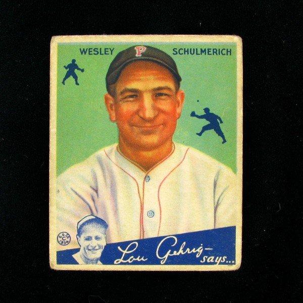 Wesley Schulmerich #54 BP $25-160 Goudey Baseball Card
