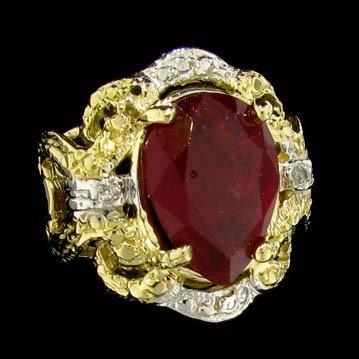 APP: 9.8k 14 kt. Gold, 4.99CT Ruby & Diamond Ring