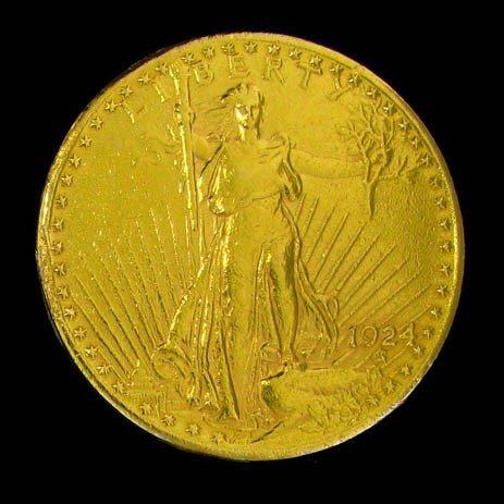 1924 $20 U.S. Saint-Gaudens Gold Coin - Investment