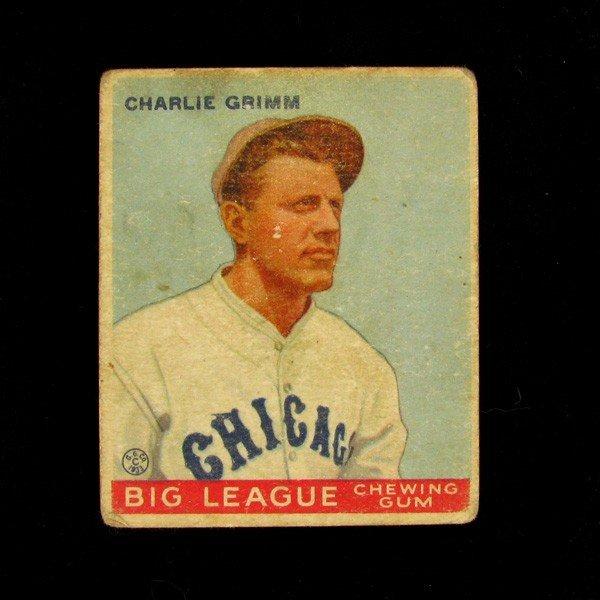 Charlie Grimm #51 BP $35-200 Goudey Baseball Card