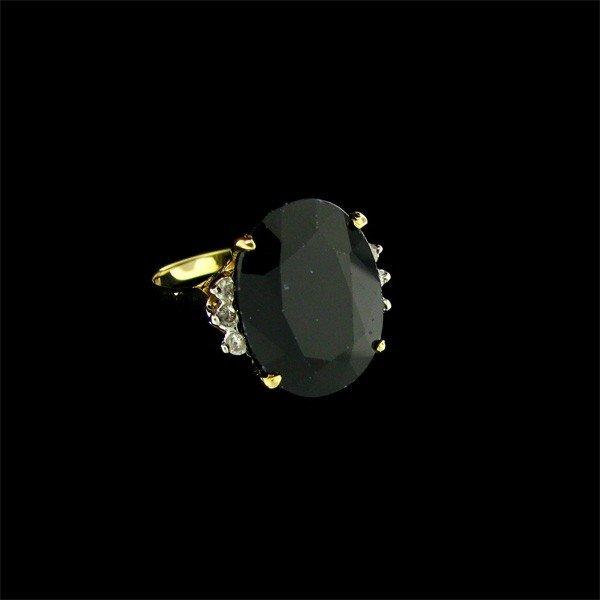 APP: 6.3k 14 kt. Gold, 10.28CT Sapphire & Diamond Ring