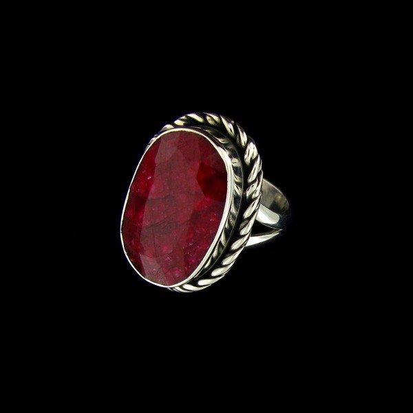 APP: 11.1k 12.97CT Ruby & Sterling Silver Ring