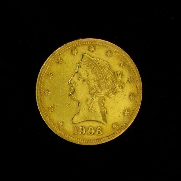 1906-D $10 U.S. Liberty Head Gold Coin - Investment