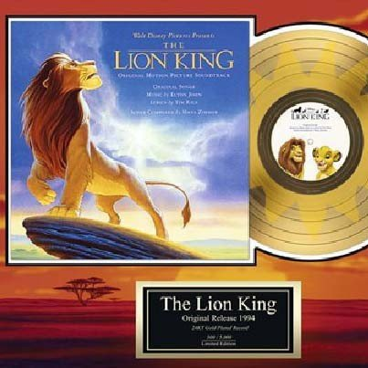 """DISNEY """"The Lion King"""" Gold Record"""