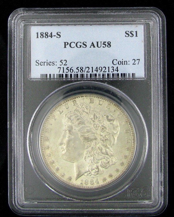 1884-S Morgan Silver Dollar Coin - Investment