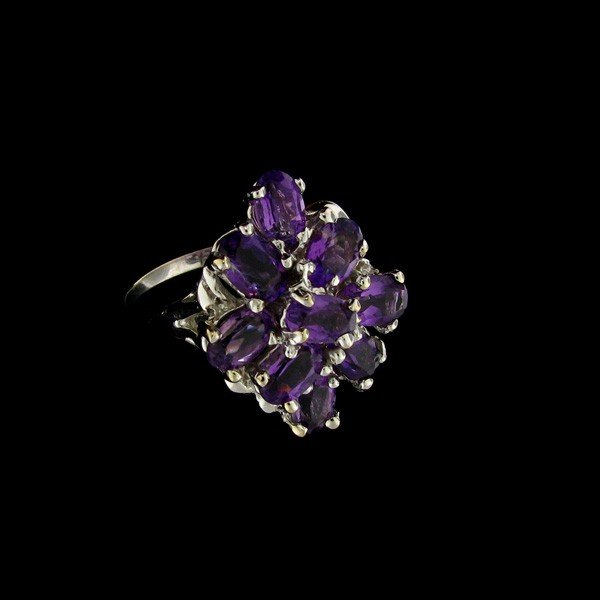 14 kt. White Gold, Amethyst Ring