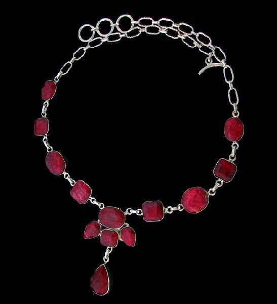 APP: 45.1k 85.41CT Ruby & Sterling Silver Necklace
