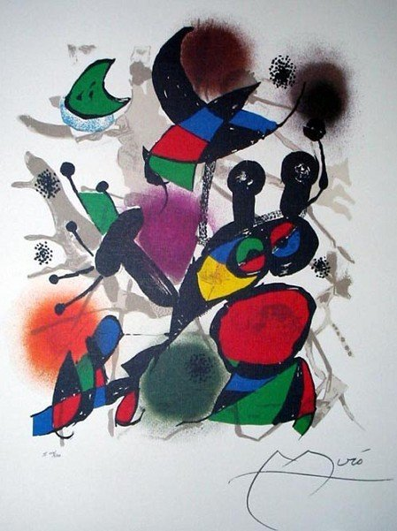JOAN MIRO Volume III Print, Limited Edition