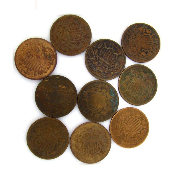 10-Misc 2 Cent Piece Coin - Investments