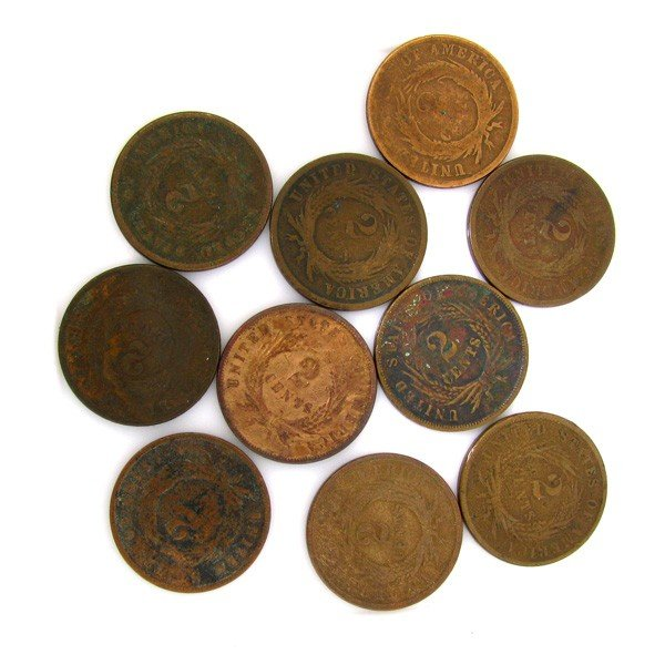 10-Misc 2 Cent Piece Coin - Investments - 2
