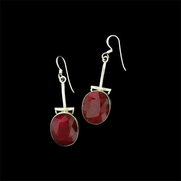APP: 27.3k 32.98CT Ruby & Sterling Silver Earrings