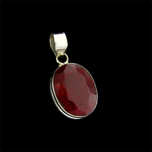 APP: 22.8k 24.68CT Ruby & Sterling Silver Pendant