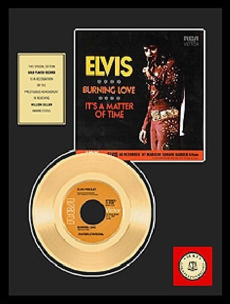 "ELVIS PRESLEY ""Burning Love"" Gold Record"