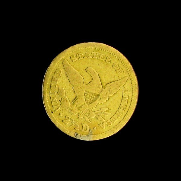 1850 U.S. Gold Coronet $2.50 Coin - Investment - 2