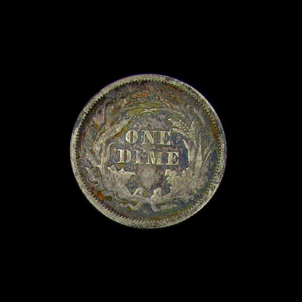 1876 Seated Liberty Dime Coin - Investment