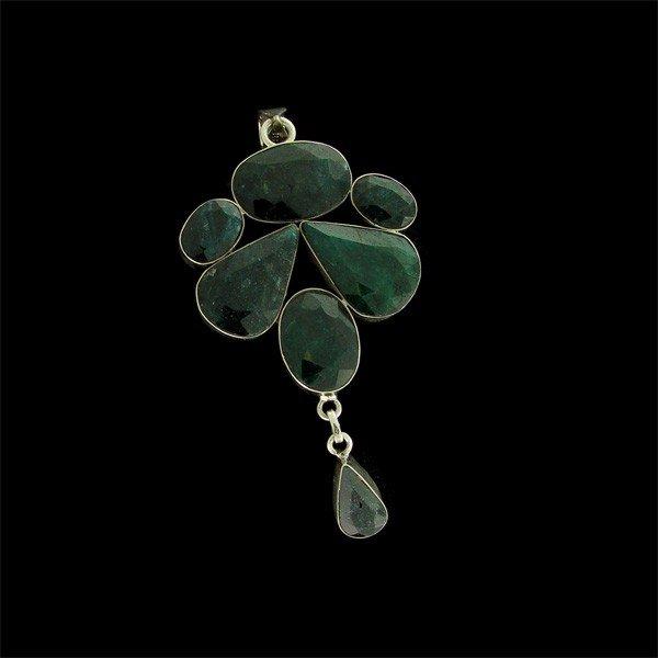 APP: 41.1k 49.22CT Emerald & Sterling Silver Pendant