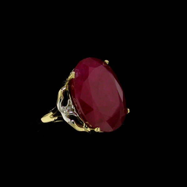 APP: 19.5k 15.98CT 14 kt. Gold, Ruby & Diamond Ring