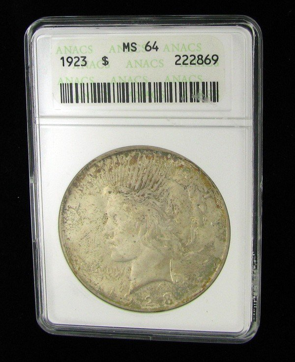 1923 Peace Silver Dollar Coin - Investment