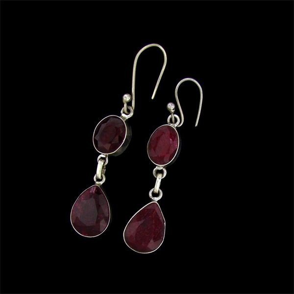 APP: 28.5k 34.78CT Ruby & Sterling Silver Earrings