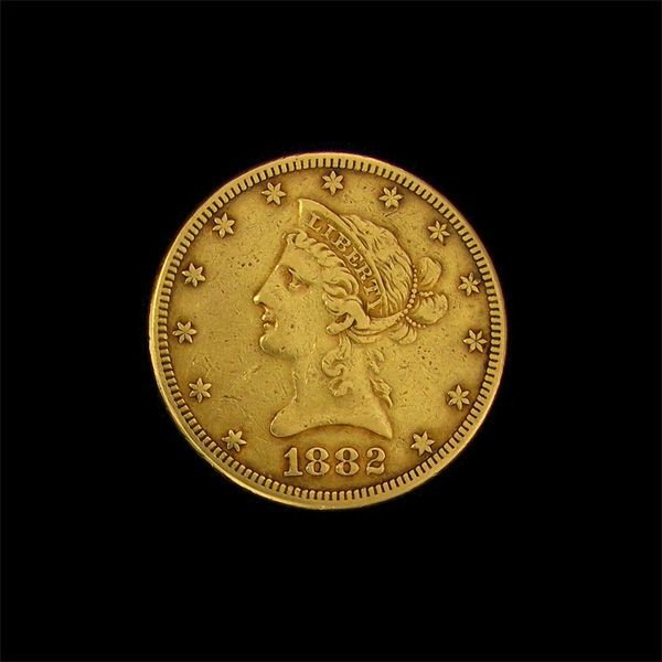 1882 $10 U.S. Liberty Head Gold Coin - Investment
