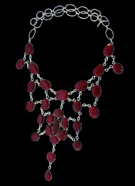APP: 157.9k 305.67CT Ruby & Sterling Silver Necklace